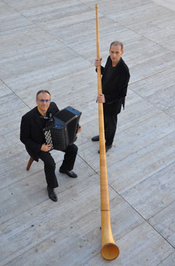 alphorn and organ